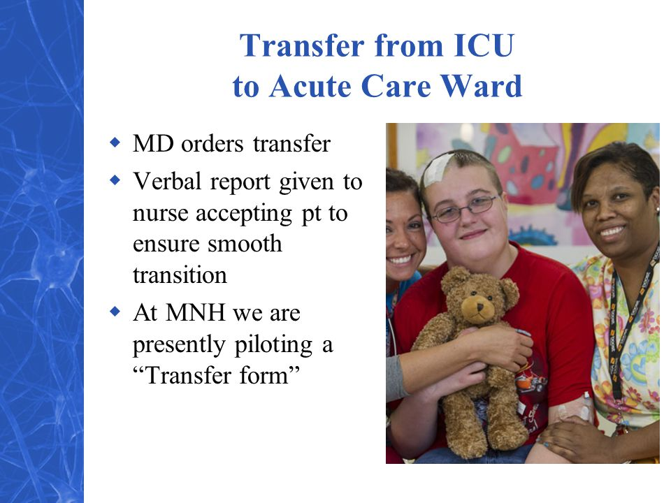 Transfer from ICU to Acute Care Ward
