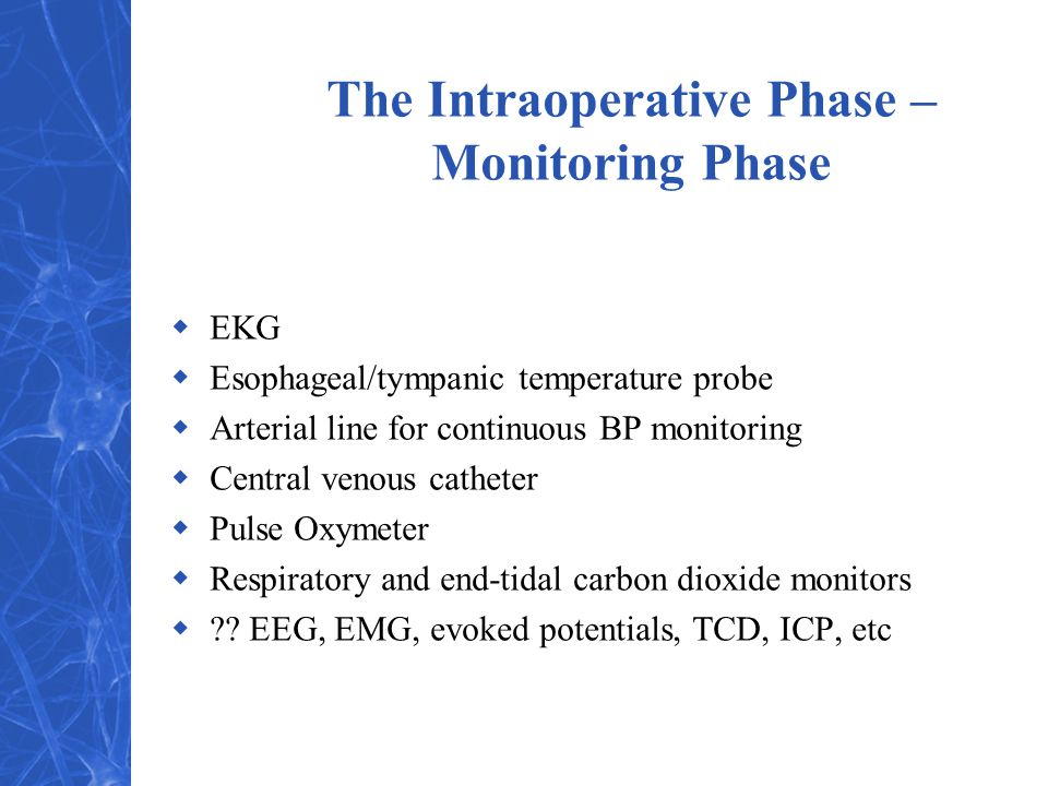 The Intraoperative Phase – Monitoring Phase