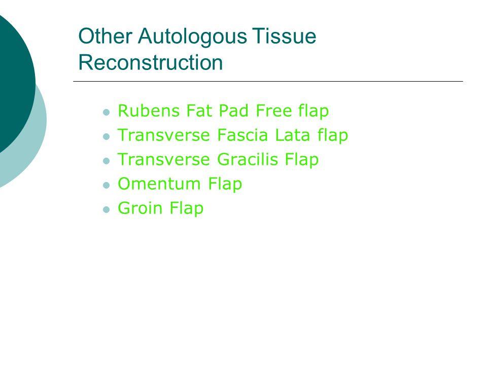 Other Autologous Tissue Reconstruction
