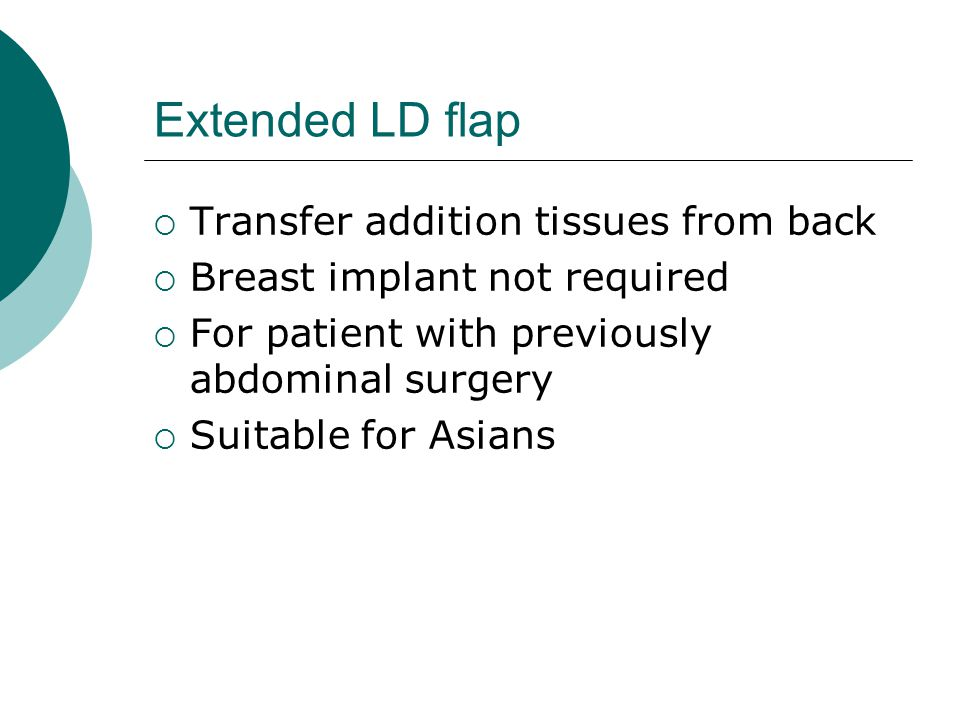 Extended LD flap Transfer addition tissues from back