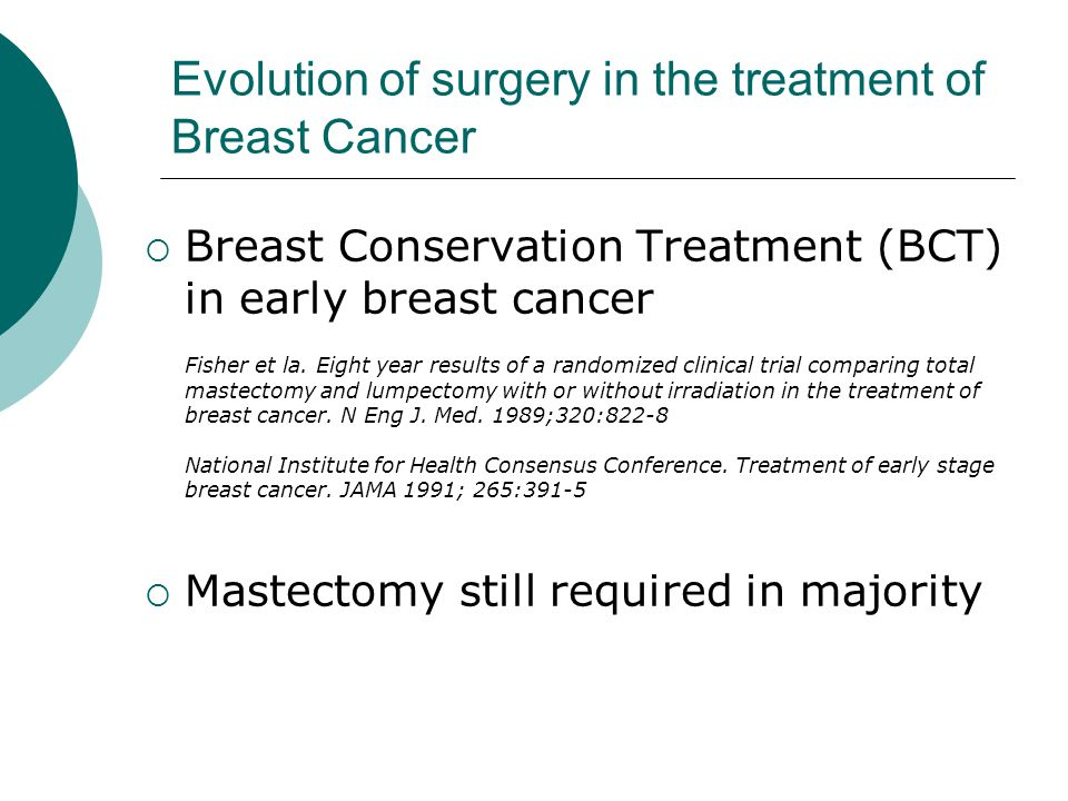 Evolution of surgery in the treatment of Breast Cancer