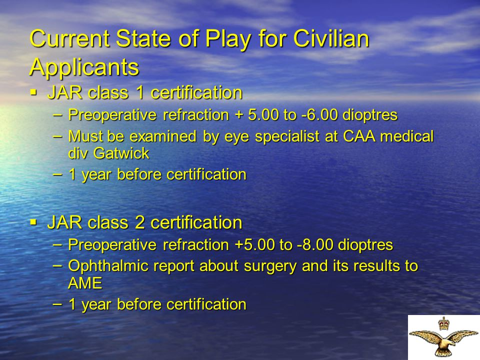 Current State of Play for Civilian Applicants