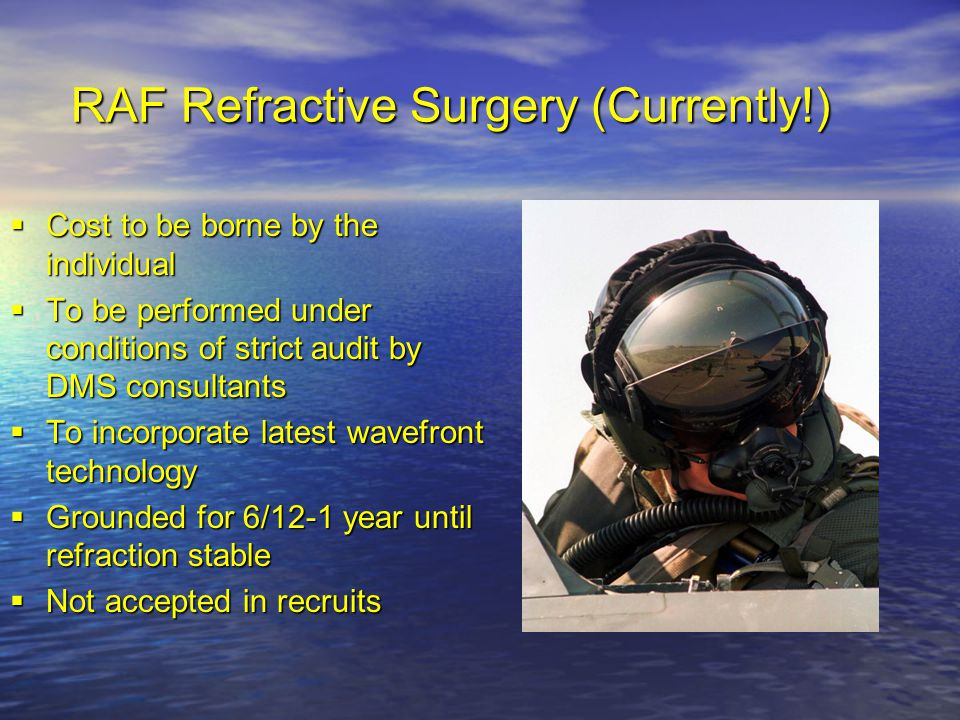 RAF Refractive Surgery (Currently!)