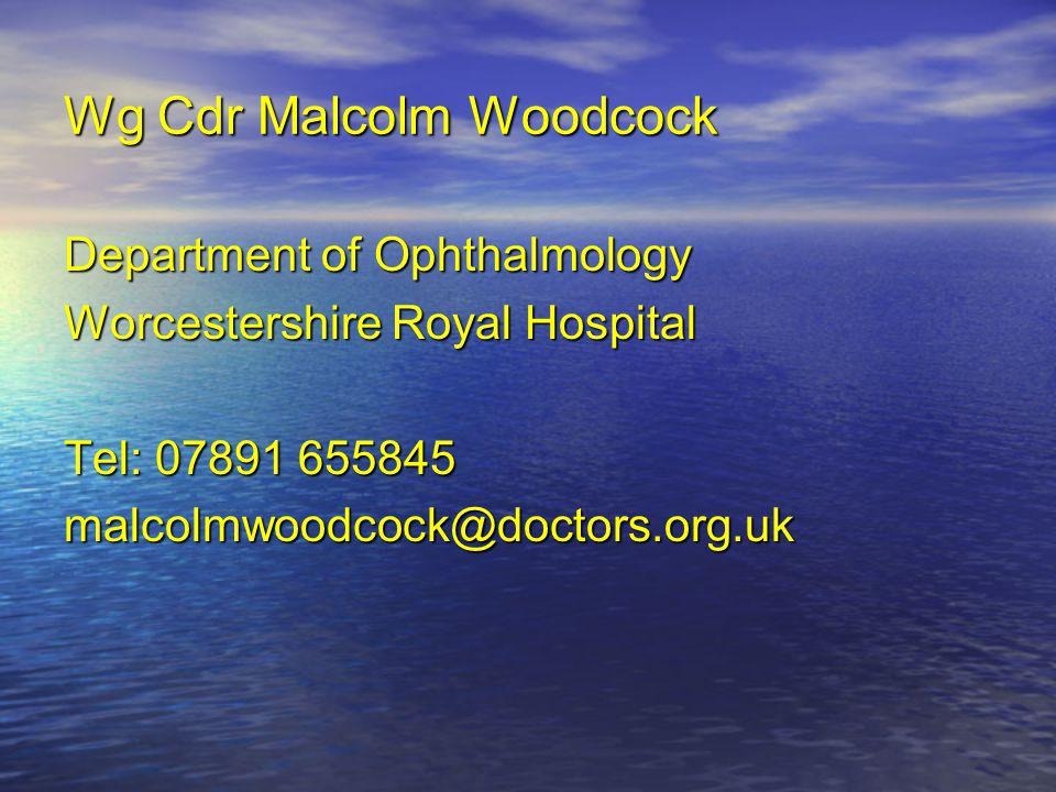 Wg Cdr Malcolm Woodcock