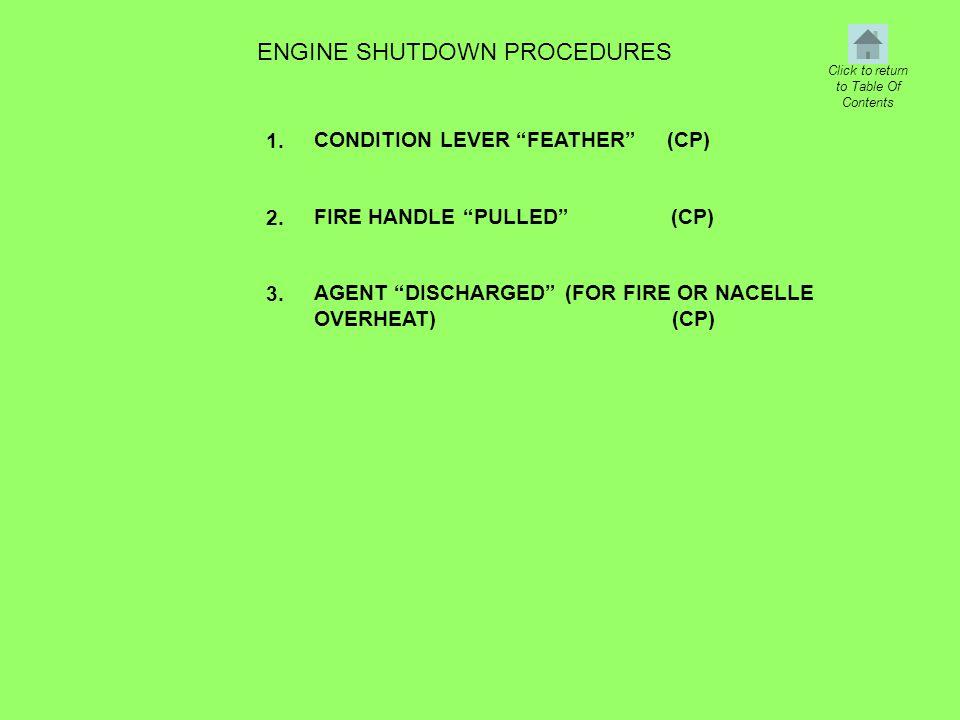 ENGINE SHUTDOWN PROCEDURES