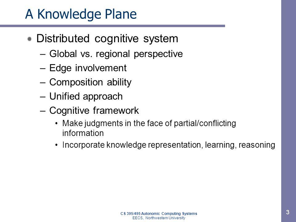 CS 395/495 Autonomic Computing Systems EECS, Northwestern University