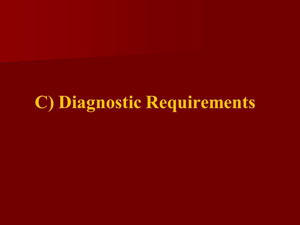 C) Diagnostic Requirements