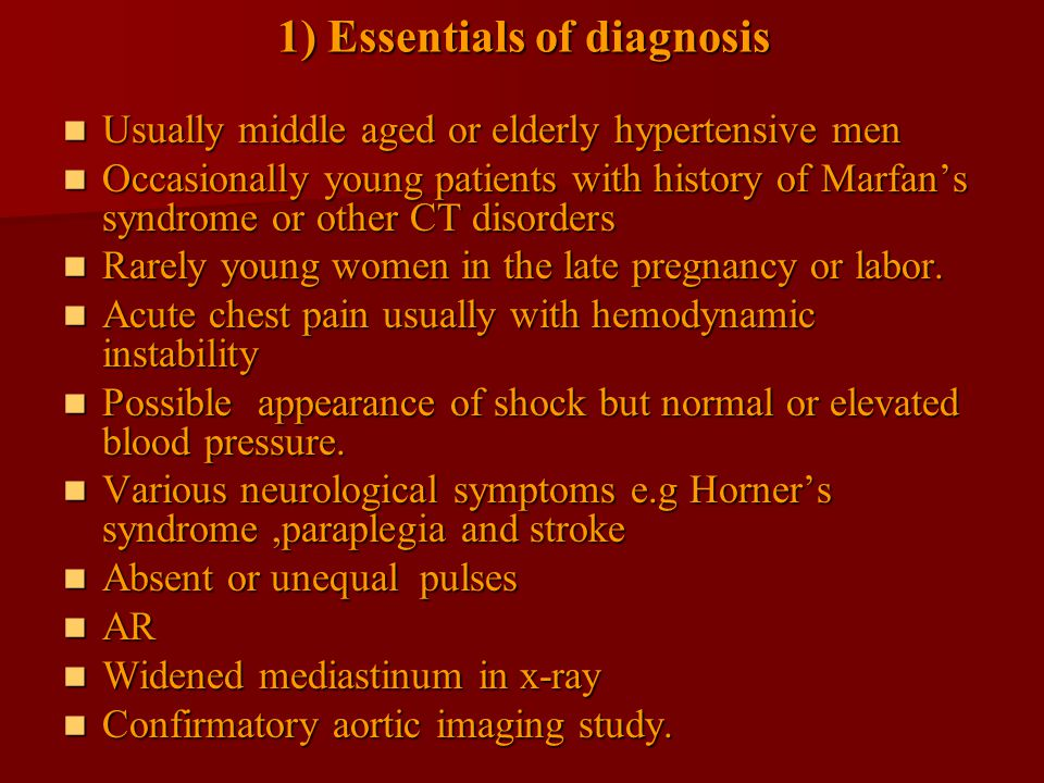 1) Essentials of diagnosis