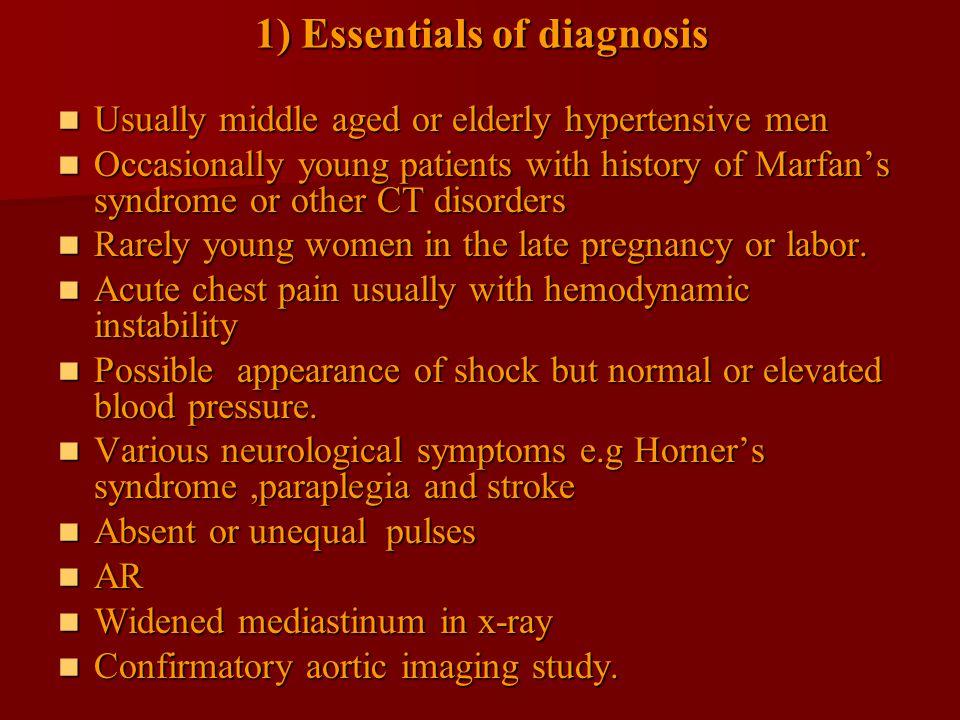 1) Essentials of diagnosis