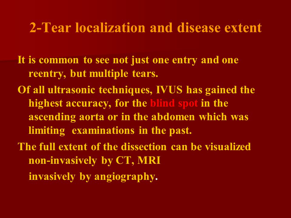 2-Tear localization and disease extent