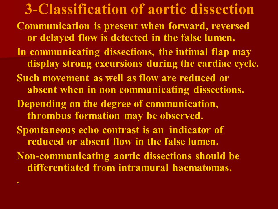 3-Classification of aortic dissection