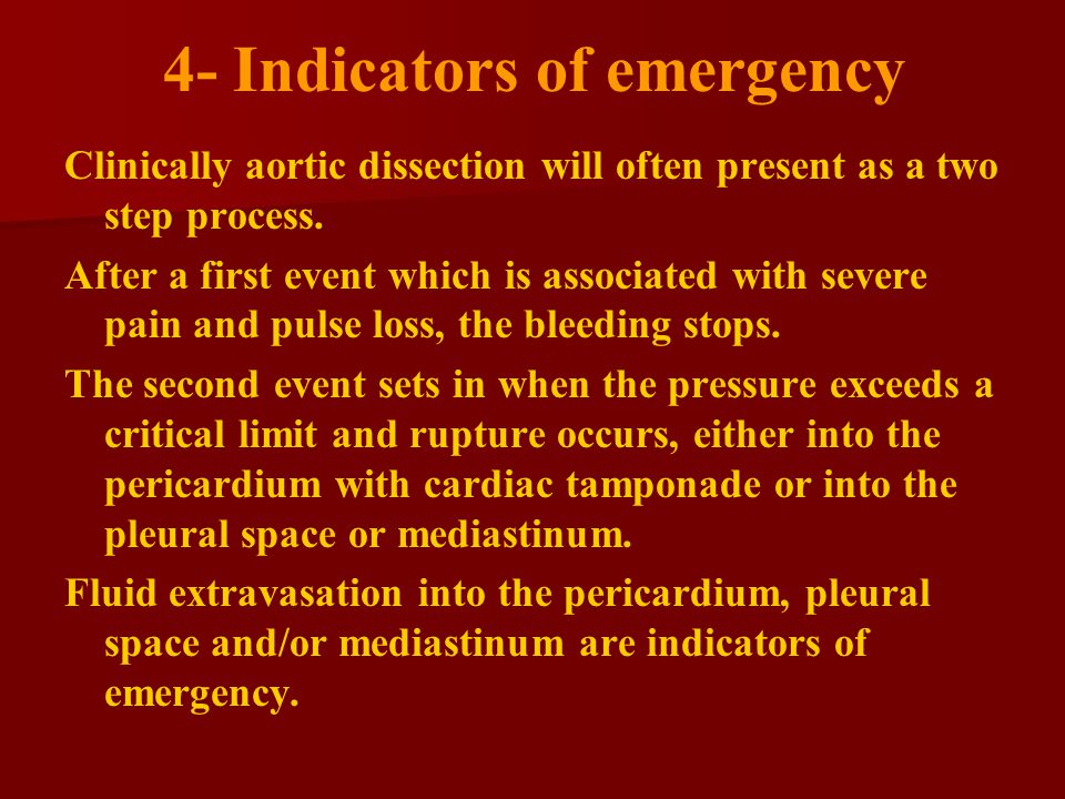 4- Indicators of emergency