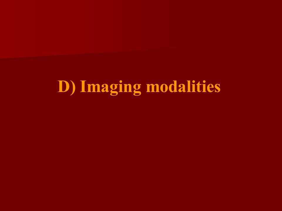 D) Imaging modalities