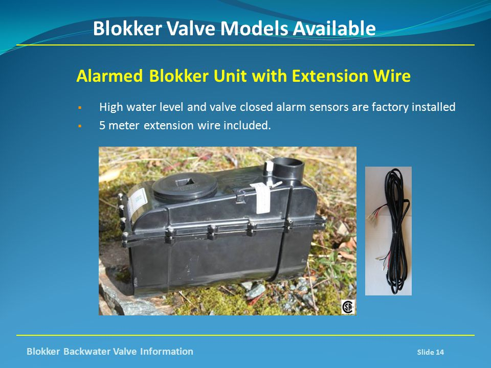 Blokker Valve Models Available