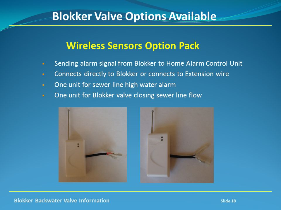 Blokker Valve Options Available