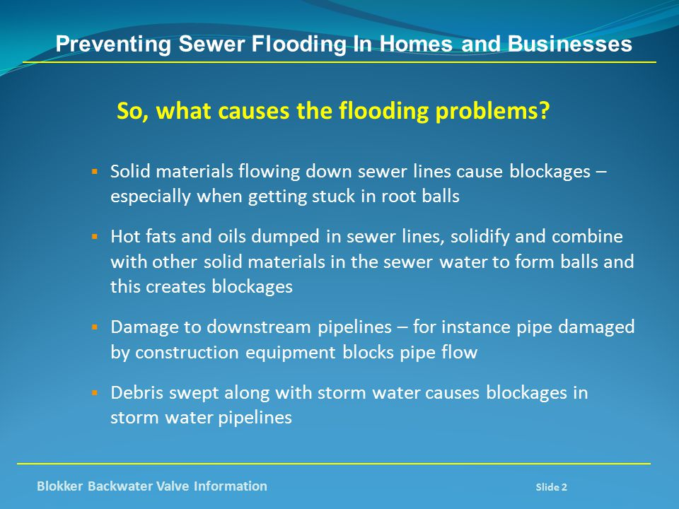 Preventing Sewer Flooding In Homes and Businesses