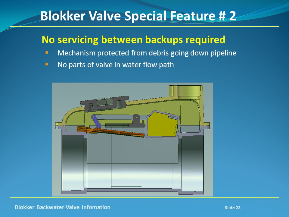 Blokker Valve Special Feature # 2