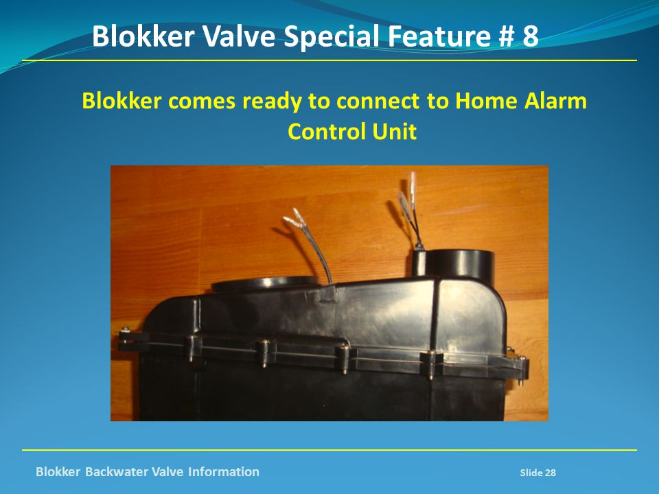 Blokker Valve Special Feature # 8