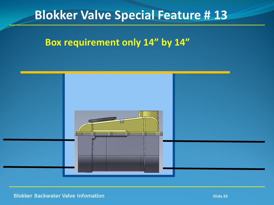 Blokker Valve Special Feature # 13