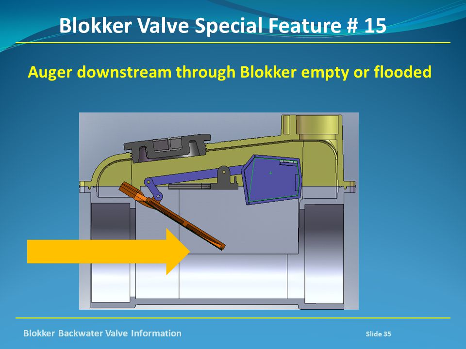 Blokker Valve Special Feature # 15