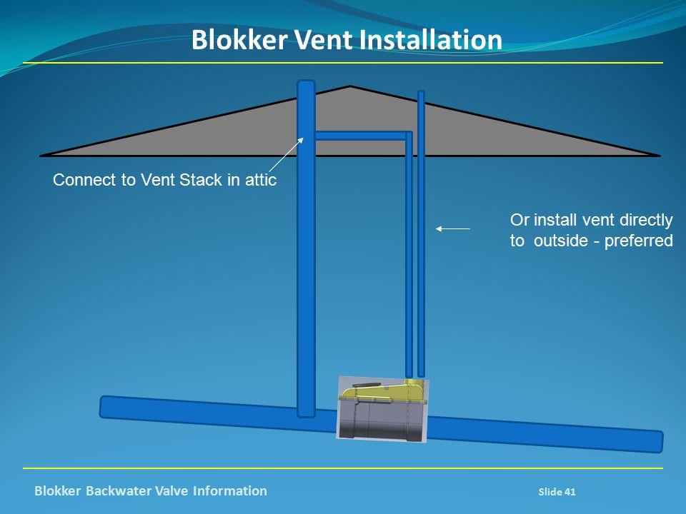 Blokker Vent Installation