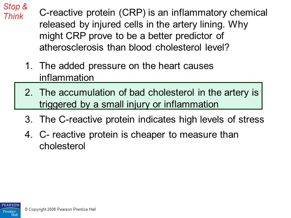 The added pressure on the heart causes inflammation