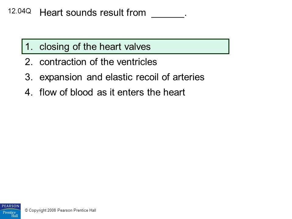 Heart sounds result from ______.