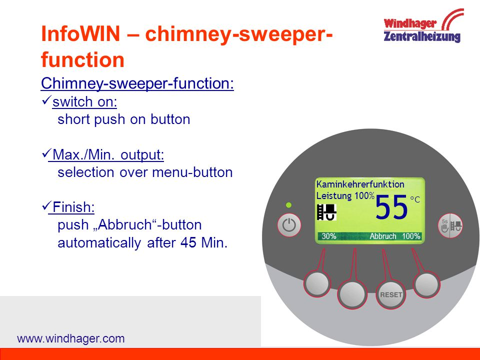 InfoWIN – chimney-sweeper-function