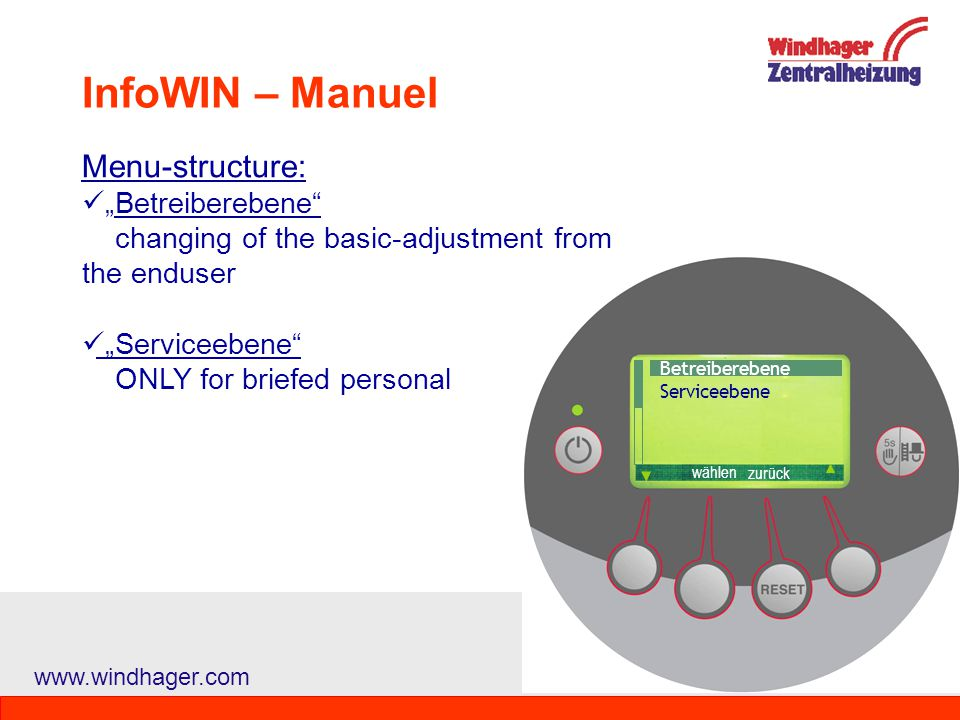 Welcome to Windhager Zentralheizung GmbH - ppt video online download