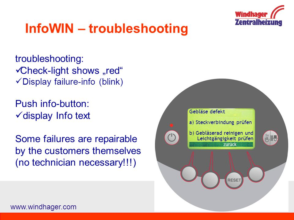 InfoWIN – troubleshooting