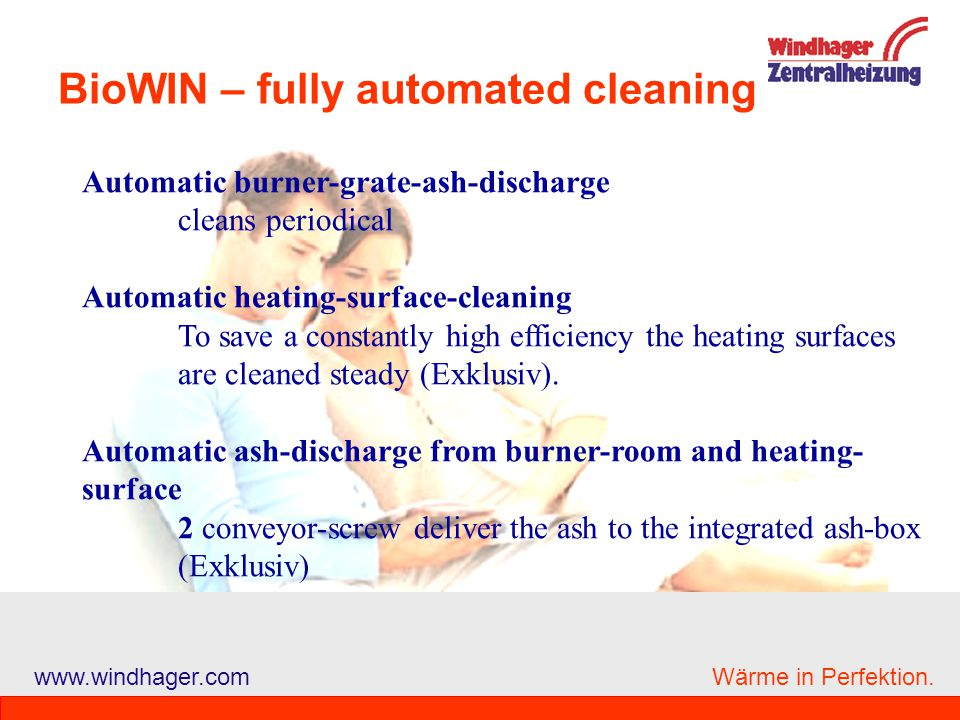 BioWIN – fully automated cleaning