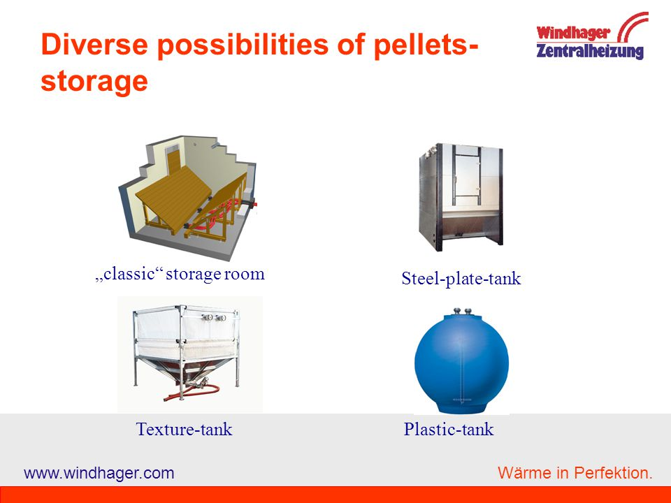 Diverse possibilities of pellets-storage