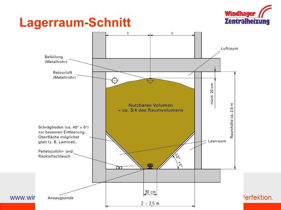 Lagerraum-Schnitt