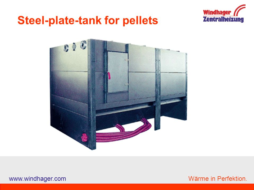 Steel-plate-tank for pellets