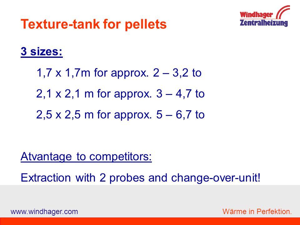 Texture-tank for pellets
