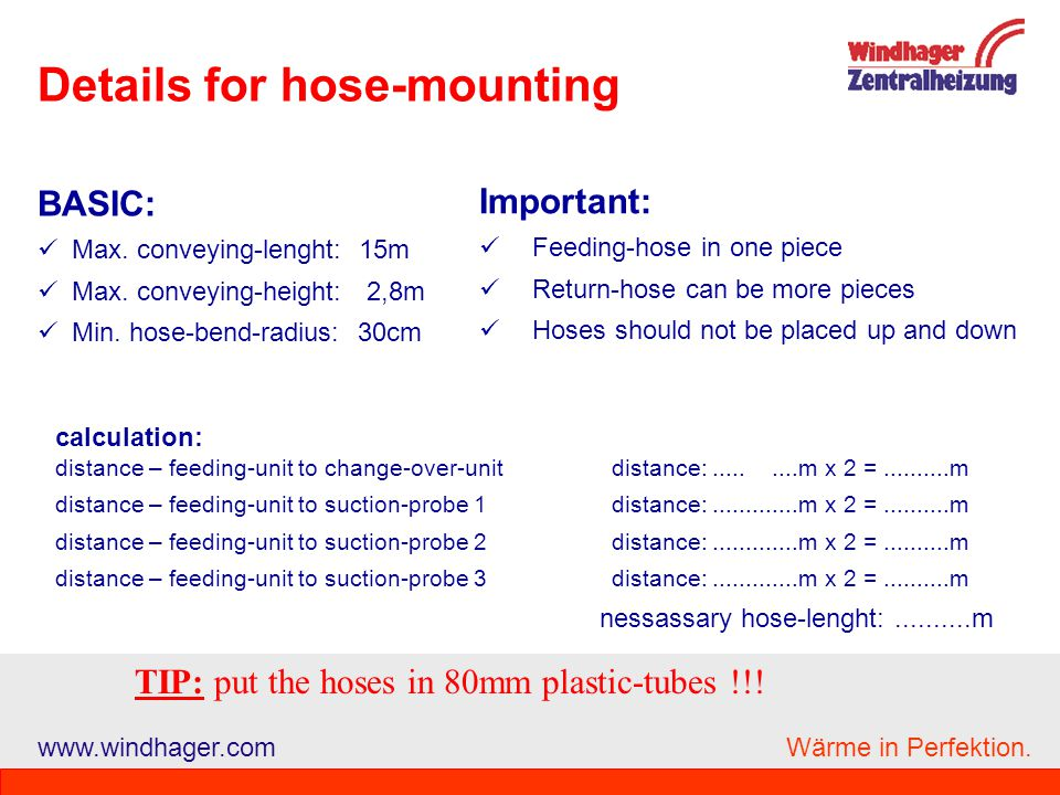 Details for hose-mounting
