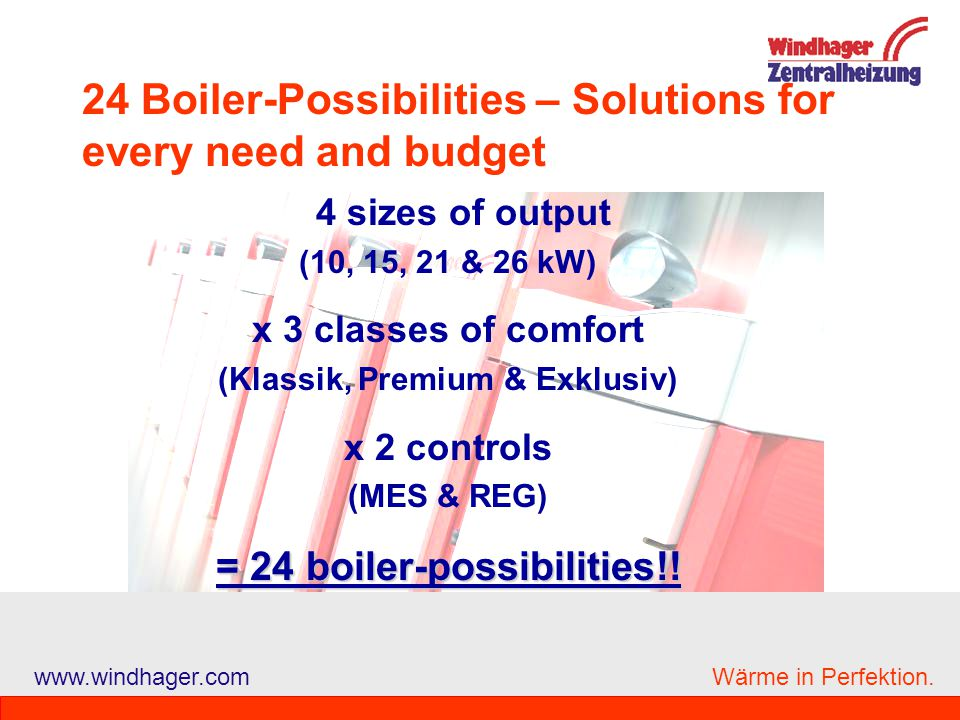 24 Boiler-Possibilities – Solutions for every need and budget
