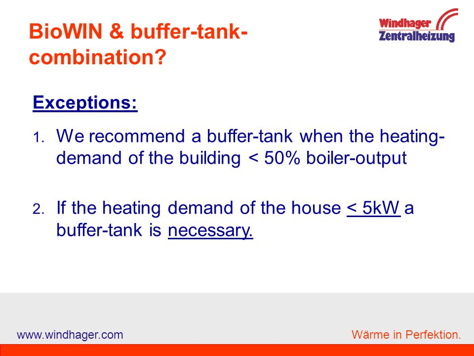 BioWIN & buffer-tank-combination
