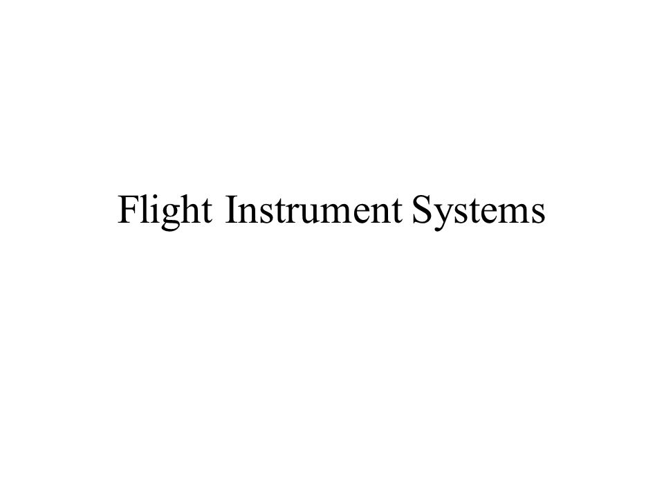 Flight Instrument Systems