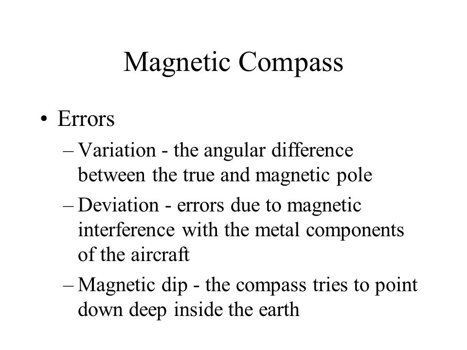 Magnetic Compass Errors