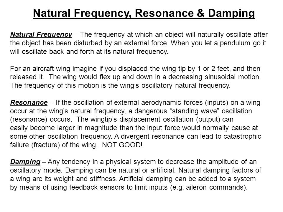 Natural Frequency, Resonance & Damping