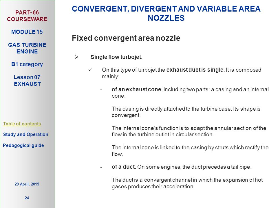 CONVERGENT, DIVERGENT AND VARIABLE AREA NOZZLES