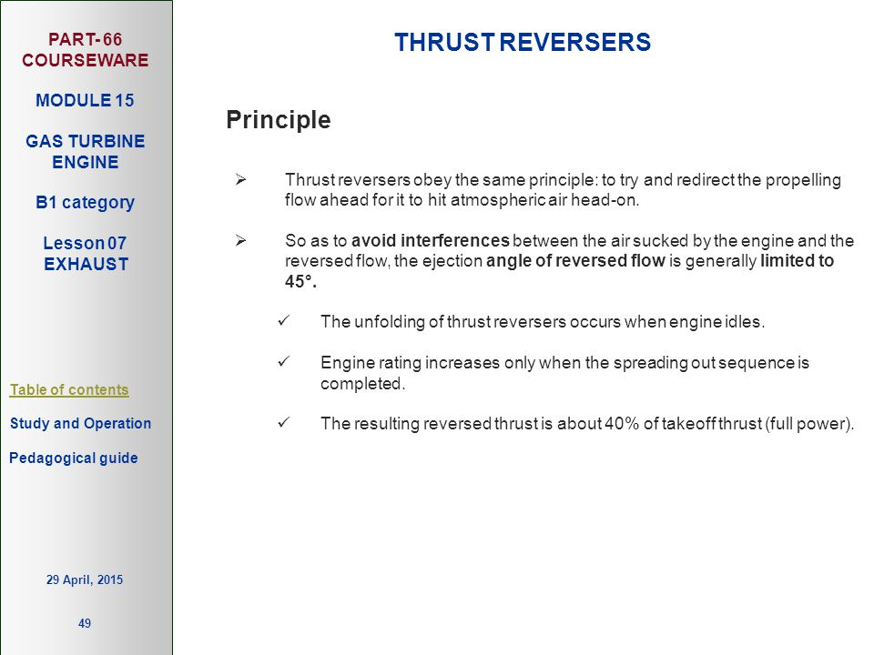 THRUST REVERSERS Principle