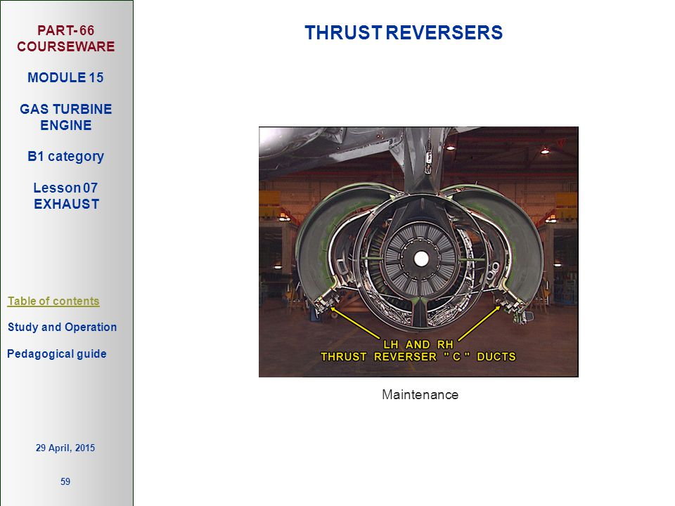 THRUST REVERSERS Maintenance 13 April, 2017