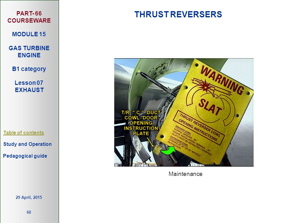 THRUST REVERSERS Maintenance 13 April, 2017