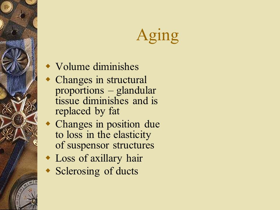 Aging Volume diminishes