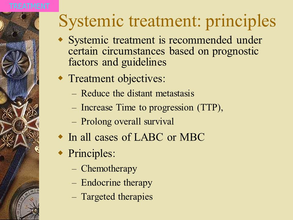 Systemic treatment: principles
