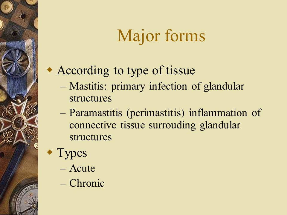 Major forms According to type of tissue Types