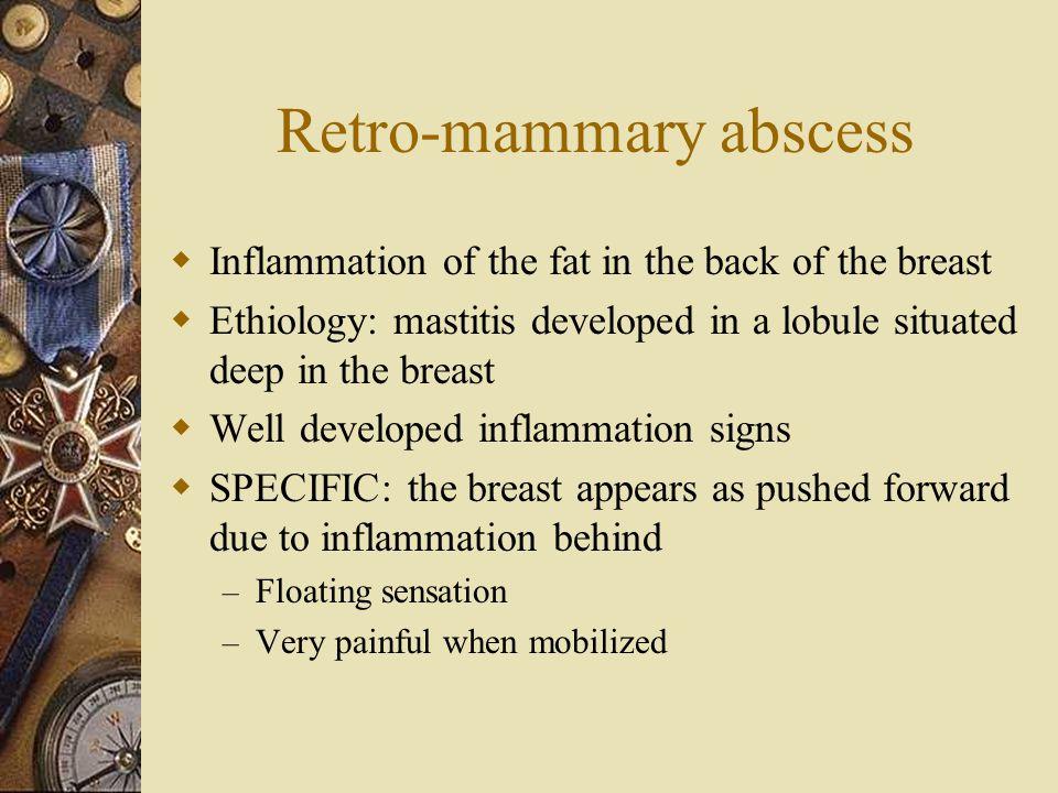 Retro-mammary abscess