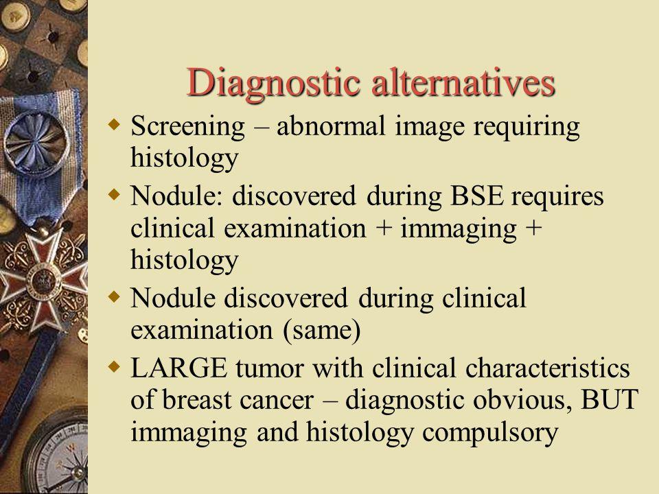 Diagnostic alternatives